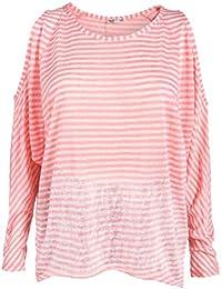 Damen Pullover weiß Feinstrick Nieten lange Ärmel Vokuhila S M L XL XXL XXXL