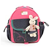 GWELL Süß Babyrucksack Kindergartenrucksack Anti-Lost Design Kleinkind Rucksack Mädchen Jungen Backpack Schultasche pink