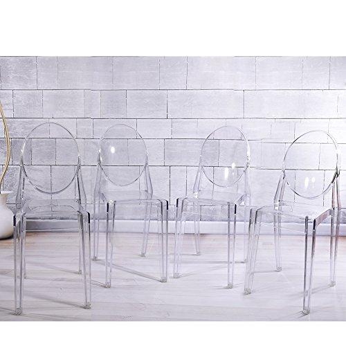 Panana New Ghost Acryl Transparent Klar Esszimmerstuhl Philippe Starck Stil X4