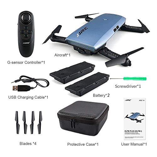 JJRC H47 ELFIE Plus Quadcopter 720P WIFI FPV Faltbare Selfie Drone Mit Gravity Sensor Kopfloser Modus Höhenhaltemodus RTF – Blau - 8