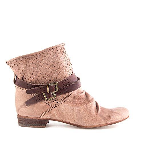 Felmini - Chaussures Femme - Tomber en amour avec Faro 8760 - Bottes Cowboy & Biker - Cuir Véritable - Marron Marron