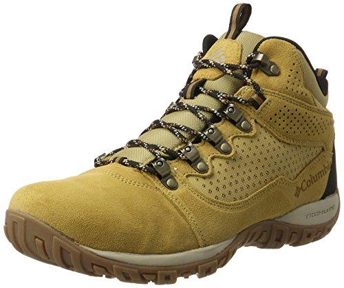 Columbia Herren Peakfreak Venture Mid Suede WP Trekking-& Wanderstiefel Beige (Curry, Ancient Fossil 373)