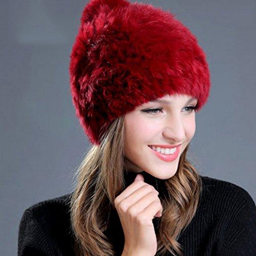 Chapeau Féminin Hiver Mme Keep Warm Not Cold Ball Chapeau tricoté Couleur solide ( couleur : 7# ) 1#