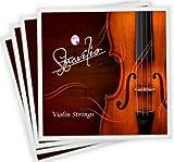 B004IJE6PO Komplettes Set bestehend aus hochwertigen Violinsaiten, Größen 1/2 und 1/4, Violinsaiten G, D, A und E Dimensione Piena