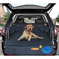 Telo auto per cani – protezione portabagagli per tutte le auto – materiale di alta qualità – raccoglie umidità, sporcizia e peli – copertura stabile con protezione laterale 185*105*36 cm di SMARTPEAS