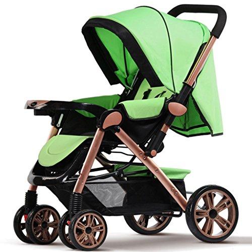 Falten Sie Unten (SUBBYE Kinderwagen Spaziergänger Ultraportable können sitzen und legen Sie unten falten vier Runden Hochlandschaft Sommer Baby Kind Säugling Baby Wagen Baby-Kinderwagen ( Farbe : D ))