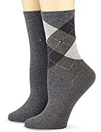Tommy Hilfiger Damen Socken Check Sock 2p, 100 DEN, 2er Pack