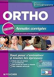 Ortho concours Annales corrigées entrée en école d'orthophoniste
