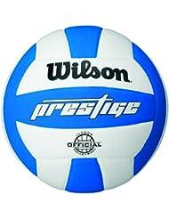 Wilson Prestige - Balón, color blanco / azul, talla única