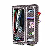 #9: EMBROSS 3.5 Feet Folding Carbon Steel Collapsible Wardrobe Cupboard Almirah Easy Foldable Storage Rack Space Saving Collapsible Ultimate Cabinet - 100% crafted in India using finest grade carbon steel and workmanship : 110 cm (L) X 45 cm (B) X 175 cm (H) when installed (For clothes,shoes,books,toys storage also