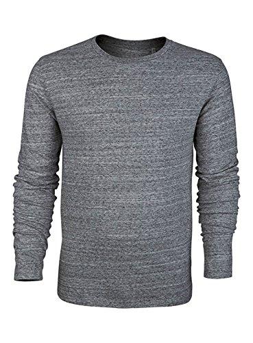 Herren Langarmshirts mit Rundhals Aus 100% Baumwolle (Bio), Herren Bio  Shirts Langarm