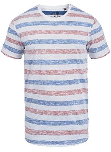 !Solid Tet Herren T-Shirt Kurzarm Shirt mit Streifen und Rundhalsausschnitt, Größe:XXL, Farbe:Diva Blue (1618)