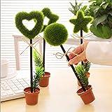 Packung mit 8 Stück Niedlich Topfblumen Pflanze Gestalt Kugelschreiber Büro Schule Vorräte Studenten Kinder Geschenk Druckkugelschreiber