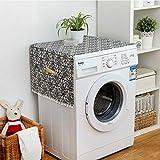 Uniuooi Housse de réfrigérateur en tissu pour machine à laver 70 * 170cm floral