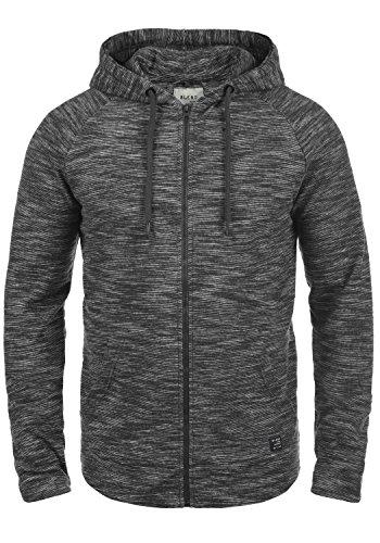 BLEND Juno Herren Sweatjacke Kapuzen-Jacke Zip-Hood aus 100% Baumwolle Meliert, Größe:M, Farbe:Phantom Grey (70010)