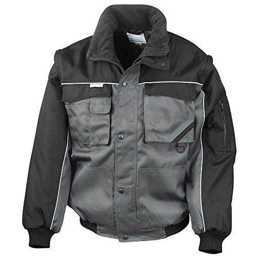 Result Heavy Duty Zip Sleeve Pilot Windproof Jacket Grey/Black