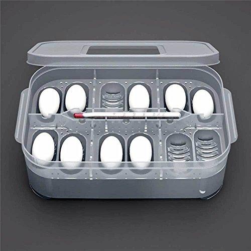 Vinciann incubatrice vassoio incubatore uova rettili serpente lucertola geco 12 posti con termometro