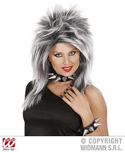 PERÜCKE - PUNKY - schwarz grau *** NATURALL LOOK (Kostüm Rocker Frauen Für)
