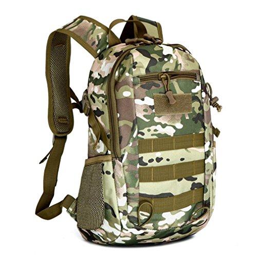15L outdoor wasserdicht Nylon Wandern, Wandern camping Rucksack, taktischer Angriff Camouflage Rucksack Tasche, Fotografie, Student schwarz-Laptop-Rucksack-Tasche cp camouflage