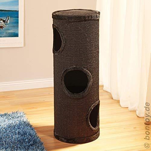 Produktabbildung von Bontoy Katzenturm Buddy mit 3 Höhlen schwarz 99cm