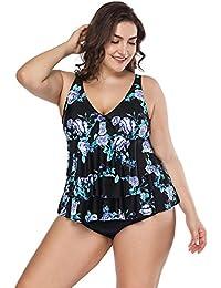 FeelinGirl Conjunto de Bikini Falda Dos Piezas Talla Grande para Mujer