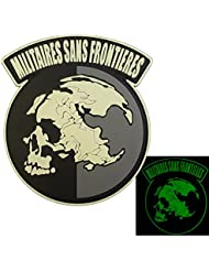 Glow Dark Militaires Sans Frontieres Metal Gear Solid Peace Walker PVC 3D Hook&Loop Écusson Patch