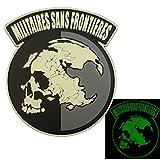 Glow Dark Militaires Sans Frontieres Metal Gear Solid Peace Walker PVC 3D Fastener Toppa Patch