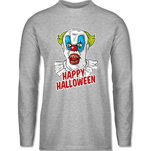 Shirtracer Halloween - Happy Halloween - Clown - S - Grau meliert - BCTU005 - Herren ()