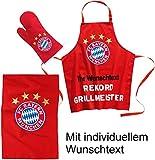 FC Bayern Grill- Set Mit Wunschtext in Wunschfarbe