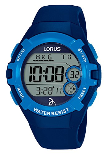 Lorus Unisex-Adult Digital Watch with Silicone Strap R2391LX9