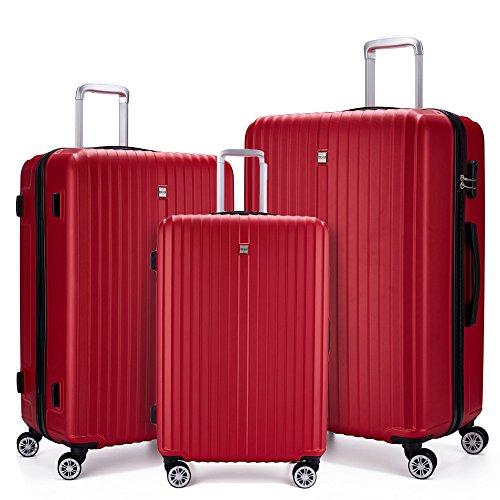 Fochier 3 Pezzi Set di Valigie da Viaggio Ruote per...