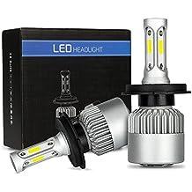 Fari LED H4 Lampadina 72W 8000LM Lampadine Super Bright per fari auto Impermeabile bianco freddo 6500K COB Kit conversione fari LED Sostituire per lampadine alogene HID (H4)
