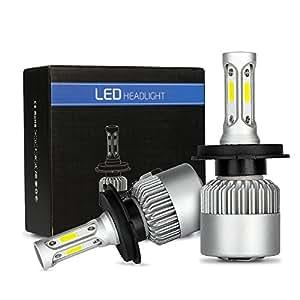 phares led h4 ampoule 72w 8000lm super lumineux ampoules de phares de voiture. Black Bedroom Furniture Sets. Home Design Ideas