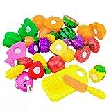 sunnymi Baby Spiele Kinderküche ZubehörKinderküche Rollenspiele,16pcs Set Gemüse Lebensmittel Spielzeug Schneiden Set Weihnachtsgeschenk (B, 1 Satz)
