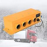 Standheizung Auto Heizung Heizlüfter Heizgerät mit 4 Steckdosen Einstellbare Temperatur und Windgeschwindigkeit für Lastkraftwagen und verschiedenen Anderen Fahrzeugen 12V 24V