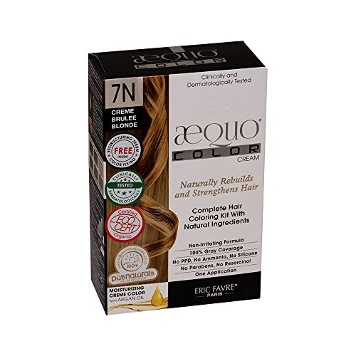 Aequo Color 7N Cream Brulee Blonde Organic Hair Colour Kit - 160ml