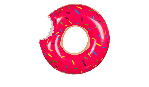 Phone Star Donut Schwimmring mit Biss aufblasbarer Schwimmreifen Wasserspielzeig f/ür Jung und Alt Durchmesser von ca 70cm in pink