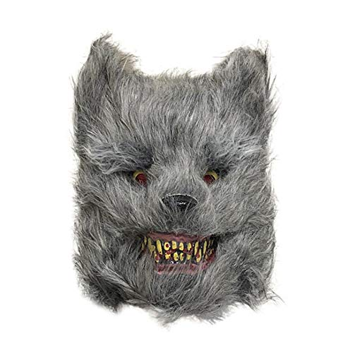 Tier Kostüm Einzigartige - Hankyky Halloween Horror Tier Plüsch Kopf Maske Einzigartige Kaninchen Panda Wolf Bär Form Cosplay Plüsch Maske Halloween Kostüm Zubehör Festliche Party Supplies