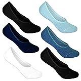 10 Paar L&K klassische Herren Füßlinge unsichtbare Sneakersocken mit Rutschfest in verschiedenen Farbset Modell 2013 39-42