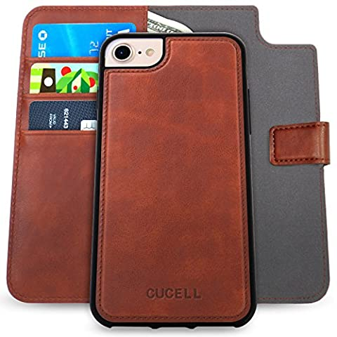 Cucell iPhone 7 Plus Case PU Leather Wallet Case Stand