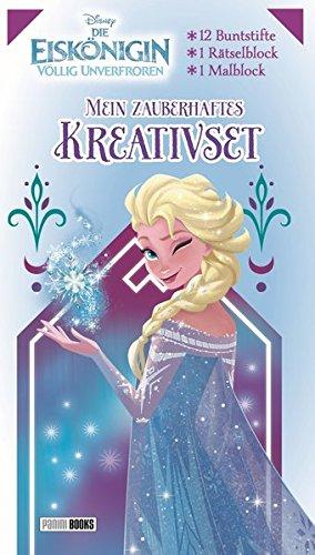 Disney Die Eiskönigin: Mein zauberhaftes Kreativset: Malblock, Rätselblock, 12 Buntstifte (Reine Mädchen)