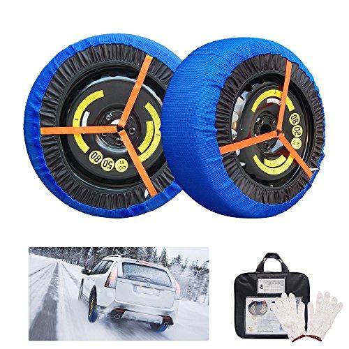 Cadena de nieve textil para coche, funda protectoras antideslizante para neumáticos, dispositivo de tracción sobre hielo o nieve