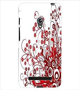 ColourCraft Floral Design Back Case Cover for ASUS ZENFONE 5 A500KL