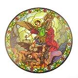 St.Michael Sonnenfänger Gefärbtes Glas Fensteraufkleber Wiederverwendbar 6 Zoll Sonnenfänger