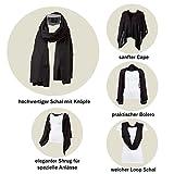 Yadawee - Multifunktionstuch/Schal und Cardigan für viele verschiedene Tragvarianten, handgewebt in Ägypten aus 100% Viskose |160 x 50 cm (Türkis) Test