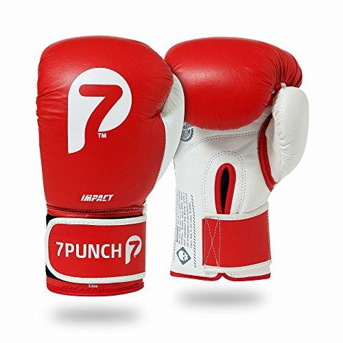 """7Punch Boxhandschuhe """"Impact"""" Leder rot"""