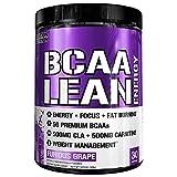 Evlution Nutrition BCAA Lean Energy - Acide Aminé Énergisant pour la Récupération et l'Endurance Musculaire, avec une Formule qui Brûle les Graisses, 30 portions Furious Grape