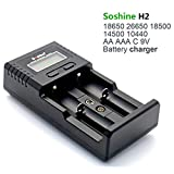 Li-ion / LiFePO4 Cargador de batería 26650 Cargador de batería 18650 Cargador de batería 9V NiMH C AA AAA 9V Cargador de batería universal del LCD