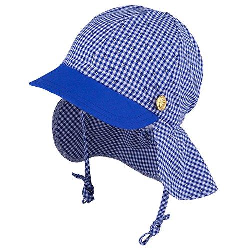 Galeja TuTu by Jungenmütze mit Nackenschutz Blau Gr. 48-50 2 in 1 UV-Schutz 30+ Sommermütze Schirmmütze