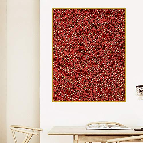 Kusama Yayoi rot abstrakte malerei wandhauptdekoration Kunst leinwanddruck Wand rahmenlose malerei 50X70 cm